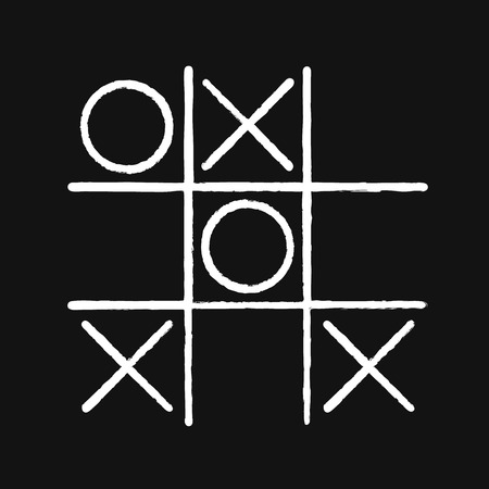 crosses: Tic tac toe. Noughts and crosses board game icon isolated. Vector Illustration