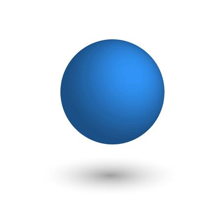Blue matte ball. Vector illustration.