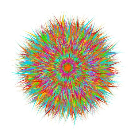 Shaggy vector ball, variegated and multi-colored. Imagens - 99575327