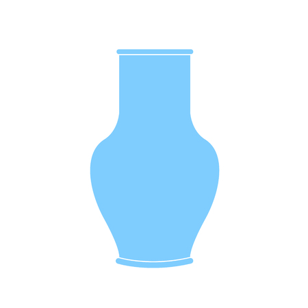 Decanter Greek amphora. Pitcher, vessel flat icon. Pitcher outline. Vector illustration Vectores