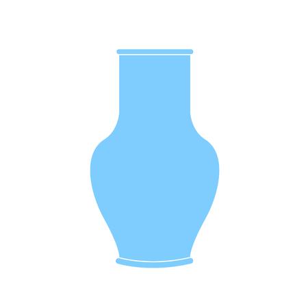 Decanter Greek amphora. Pitcher, vessel flat icon. Pitcher outline. Vector illustration Illustration