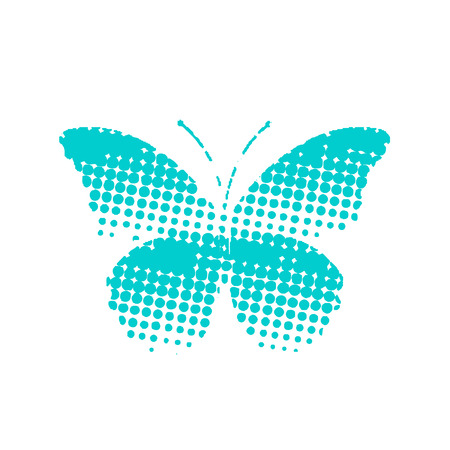 pattern with butterflies. Butterfly effect pointillism. Vector Eps 10
