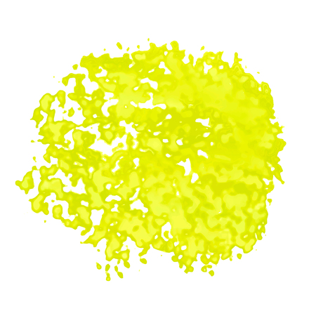 Vector texture, imitation of watercolor stains. On a transparent background. Yellow