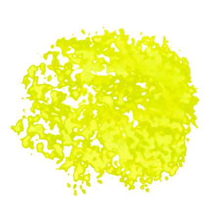Vektorbeschaffenheit, Nachahmung von Aquarellflecken. Auf einem transparenten Hintergrund. Gelb