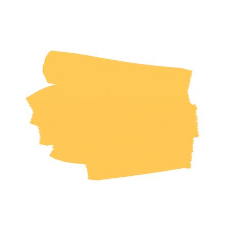 Platz für Text, Pinselstrich. Gelb auf transparentem Hintergrund