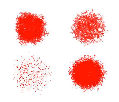 Vector set of round textures. Ragged texture, crumbs and strokes Illusztráció