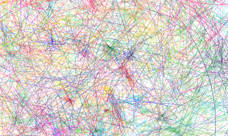 Set of vector colored lines. A web of fine lines. Multi-colored set of lines, randomly arranged, editable colors