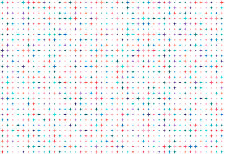 Vector seamless background of many colored rhombuses of random size and random color. Vectores