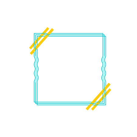 Frame border line page vector simple. Modern vector frame minimalism. The frame is made of thin colored lines Banque d'images - 105792077