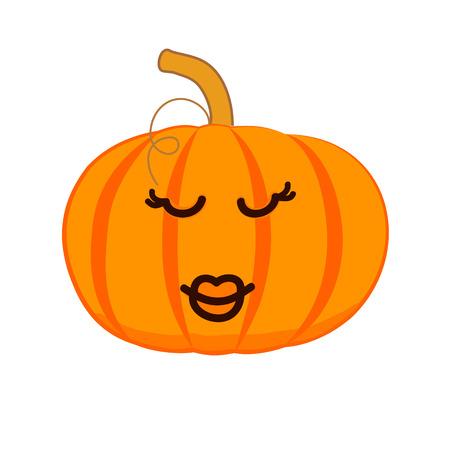 Cute smiling pumpkin, for your design. Vector illustration