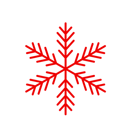 Vector snowflake. Icon snowflakes, cold and cooling. Symbol of winter Illustration