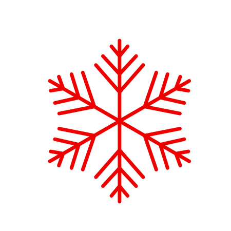 Vector snowflake. Icon snowflakes, cold and cooling. Symbol of winter Stock Photo