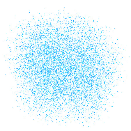 Vector texture of many small round dots. Small circles of different shades of blue.
