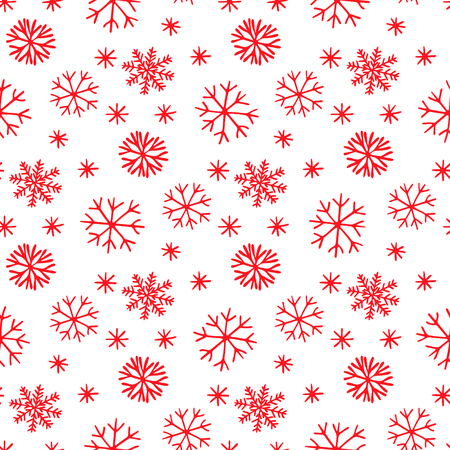 Snowflake seamless pattern. Snow on a transparent background. Abstract wallpaper, wrapping decoration. Symbol winter, Merry Christmas holiday, Happy New Year celebration Vector illustration