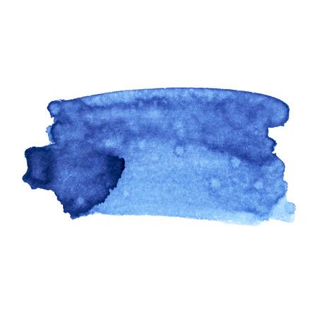 Vector paint stroke. Black ink, blue ink. Illustration