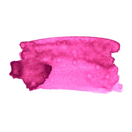 Vector paint stroke. Black ink, pink ink.