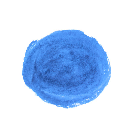 Vector paint stroke circle, round . Black ink, blue ink.