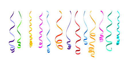 Colorful ribbons for decoration . Serpentine vector illustration. Festive elements for your design.