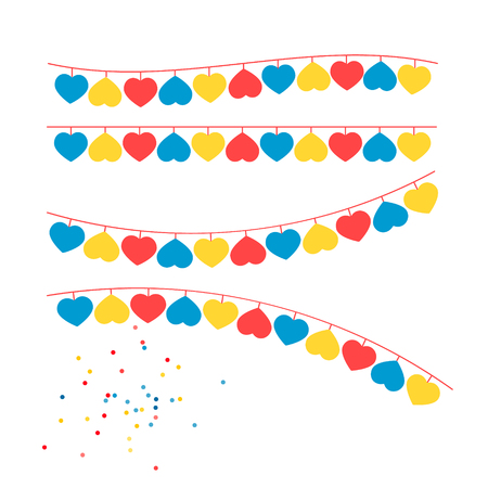 Party Background with Flags Vector Illustration. EPS 10 Ilustração
