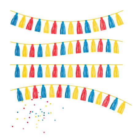 Fond de fête avec illustration vectorielle de drapeaux. EPS 10 Vecteurs