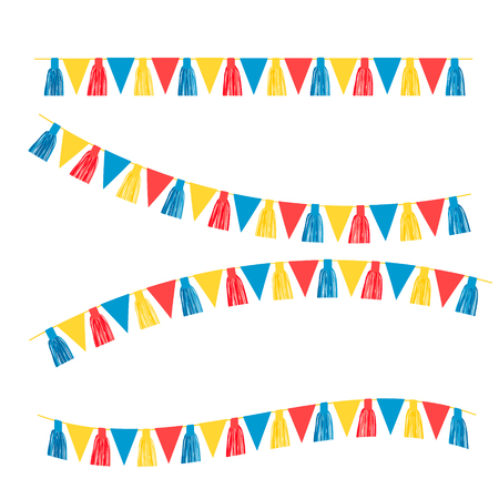 Party Background with Flags Vector Illustration. EPS 10 Ilustração Vetorial