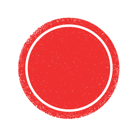 Red grunge circle texture, red round vector