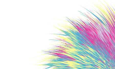 Abstract colorful background presentation . Color shaggy fluffy fur, mixed grass, stripes. Vector Illustration