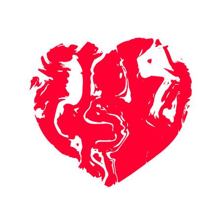 Heart, texture stone marble fabric. Vector illustration