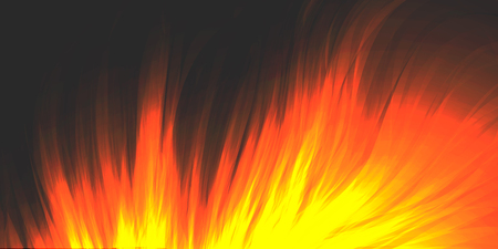 Burning fire, blazing flame, vector background. Bright orange glowing flame