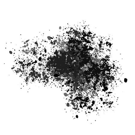 Texture vectorielle, beaucoup d'éclats de différentes tailles. Blot, éclaboussures de peinture ou morceaux de craie.