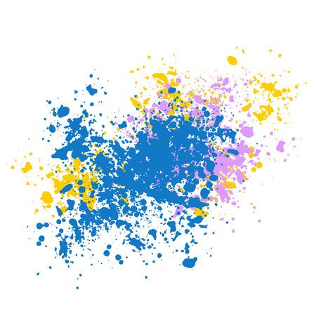 Vektortextur, viele Scherben unterschiedlicher Größe. Flecken, Farbspritzer oder Kreidestücke. Vektorgrafik