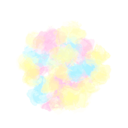 Spot of multi-colored paints, fluffy watercolor cloud. Vector illustration