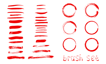 Abstract background. Ink brush strokes with rough edges. Watercolor brush stroke