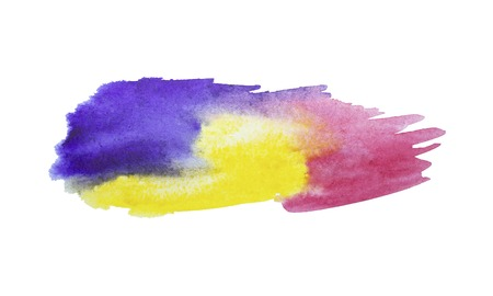 Colorful watercolor stain with aquarelle paint blotch .