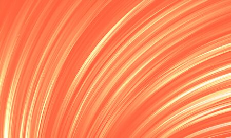 Abstract background coral color. Glowing lines of the folds