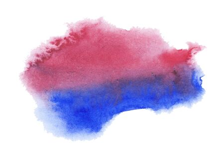 Abstract watercolor stain. A blur of color in the paint. Watercolor background for your design 免版税图像