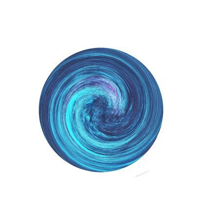 Abstract painting design element. Blue smudge whirlpool. Stock Photo