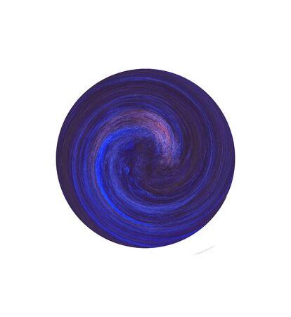 Dark blue circle watercolor spiral Stock Photo