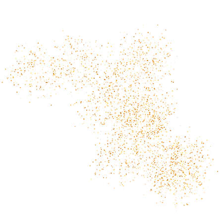 The texture of golden sand on a transparent background. Vector illustration. 矢量图像