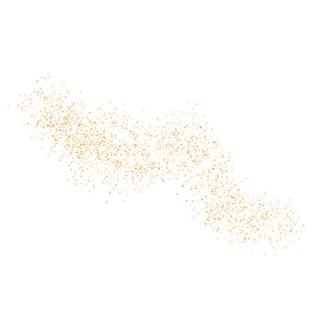 The texture of golden sand on a transparent background. Vector illustration. Vecteurs