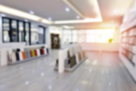 장식 집에 대 한 흐리게 사진 재료 디자인 상점입니다. 홈 추상적 인 배경을 홈 재료 디자인의 쇼 룸. 홈 개조, 새로운 프로젝트, 건설, 인테리어 디자인
