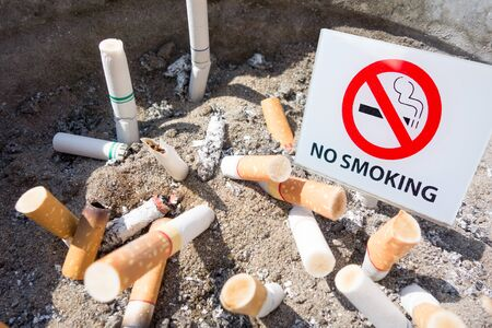habit: no smoking sign with cigarette background