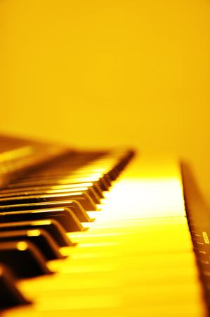 Piano keyboard background . Stock Photo