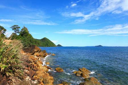 trad: Rocky Coastal Area near islands in Trad province, Thailand