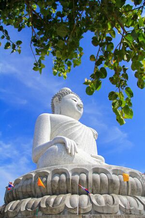 The Phuket Big Buddha, made of Burmese white marble photo