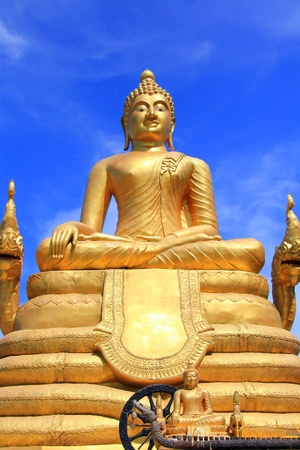 tons: A 12 meters high Big Buddha Image, made of 22 tons of brass in Phuket,Thailand