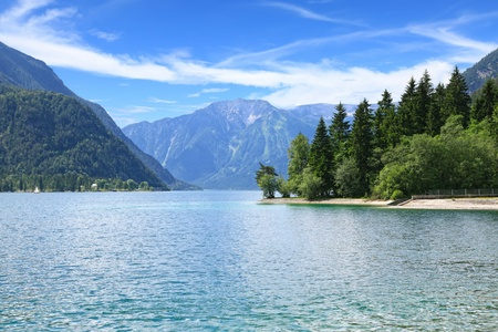 tirol: Peaceful view of the Achensee Lake in Tirol, Austria, Central Europe
