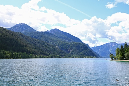 Peaceful view of the Achensee Lake in Tirol, Austria, Central Europe Stock Photo - 10932468