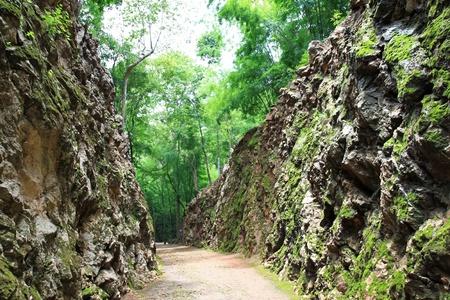 seconda guerra mondiale: Hellfire Trail Pass, Ferrovia della Morte - La Seconda Guerra Mondiale memoriale in Kanchanaburi, Thailandia Archivio Fotografico
