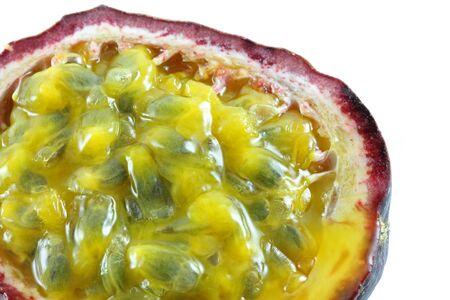 passion fruit: Closeup photo of Ripe and juicy Granadilla (passion fruit) Stock Photo